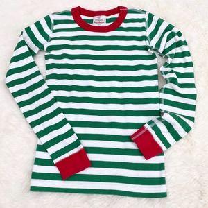 HANNA ANDERSSON Long John PJ Top Christmas Striped